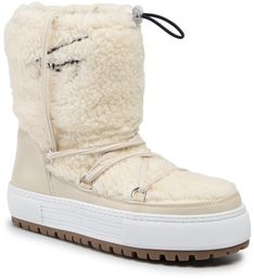 Buty TOMMY JEANS - Signature Teddy Snowboot EN0EN00702 Whisper White YAU