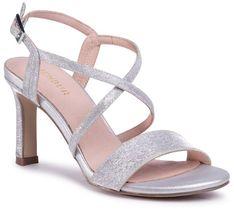 Sandały MENBUR - 21421 Silver 0009