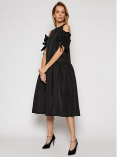 Victoria Victoria Beckham Sukienka koktajlowa Compact Poly Faille 2121WDR002324A Czarny Regular Fit