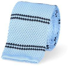 Krawat Dzianinowy Niebieski