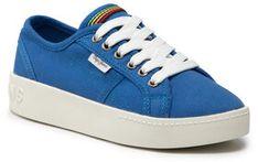 Pepe Jeans Sneakersy Brixton Canvas PGS30448 Niebieski