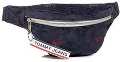 Saszetka nerka TOMMY JEANS - Tjw Logo Tape Bumbag Cord AW0AW091020 Granatowy