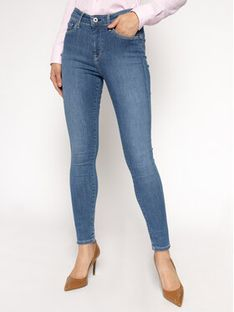 Pepe Jeans Jeansy Skinny Fit Zoe PL203616H Granatowy Skinny Fit