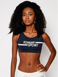 Tommy Sport Biustonosz top Mid Logo S10S100451 Granatowy