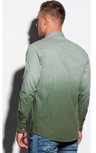 Ombre koszula męska z długim rękawem