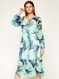 Laurèl Sukienka codzienna 11027 Zielony Regular Fit