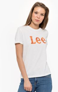 "Lee ""Slim Logo Tee"" Bright White"