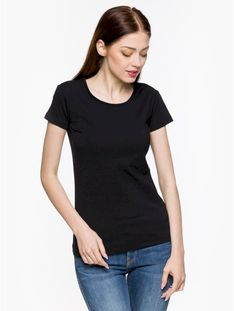 "Silesia Jeans ""Classic L01E Women Ts"" Black"