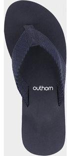 Outhorn klapki damskie bez zapięcia na płaskiej podeszwie letnie bez wzorów