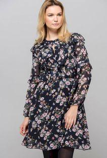 Romantyczna sukienka w kwiaty z falbanami