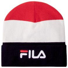 Czapka FILA - Slouchy Beanie With Linear Logo 686115  Black Iris/True Red/Bright white G06
