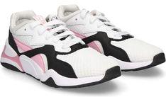 Buty sportowe damskie Puma do koszykówki na platformie sznurowane gładkie