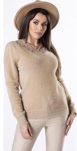 Sweter damski Ptakmoda.com koronkowy