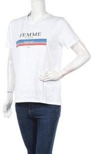 Bluzka damska Cross Jeans z okrągłym dekoltem