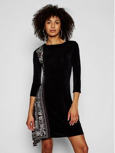Desigual Sukienka codzienna Los Angeles 21SWVK42 Czarny Slim Fit
