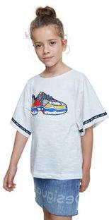 Desigual T-Shirt Derby 20SGTK21 Biały Regular Fit