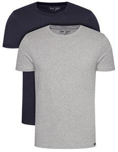 Lee Komplet 2 t-shirtów Twin Pack Crew L680CMLD Granatowy Fitted Fit