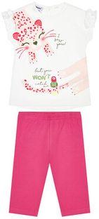 Primigi Komplet t-shirt i legginsy Jungle Life 45191521 Kolorowy Slim Fit