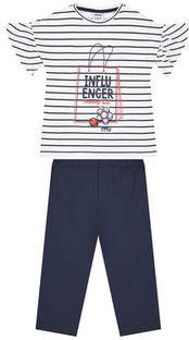 Primigi Komplet t-shirt i legginsy Happy Shopping 45192511 Biały Regular Fit