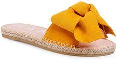 Manebi Espadryle Sandals With Bow M 2.4 J0 Żółty