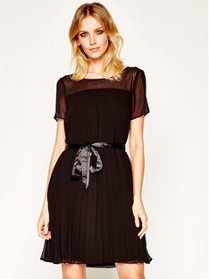 DKNY Sukienka koktajlowa P0BBGEWP Czarny Regular Fit