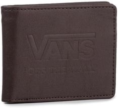 Duży Portfel Męski VANS - Logo Walle VN0A3IHEDRB1 Dark Brown