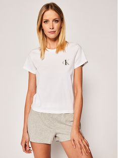 Calvin Klein Underwear Koszulka piżamowa 000QS6356E Biały Regular Fit