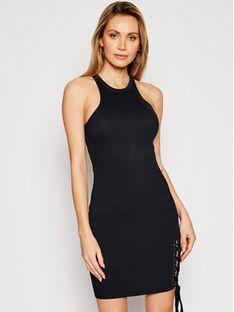 Guess Sukienka dzianinowa W1GK90 Z2U00 Czarny Slim Fit