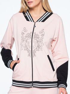 Sportowa bluza z kryształową aplikacją L`AF FUERTA