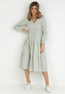 Jasnozielona Sukienka Fyreless