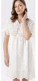 Sukienka biała Born2be mini z krótkim rękawem