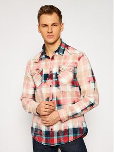 Guess Koszula M0BH01 WDBV0 Różowy Slim Fit