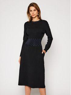Tory Burch Sukienka dzianinowa Rib Waist 76402 Czarny Regular Fit