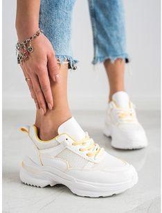 Buty sportowe damskie CzasNaButy sneakersy wiązane na wiosnę
