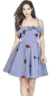 Sukienka Guess niebieski