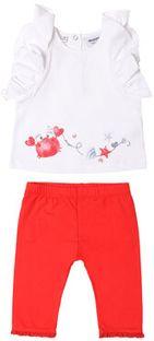 Primigi Komplet t-shirt i legginsy Ocean Drive 45196531 Biały Regular Fit