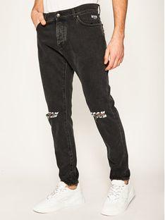 MSGM Jeansy Regular Fit 2840MP57L 207073 Czarny Regular Fit