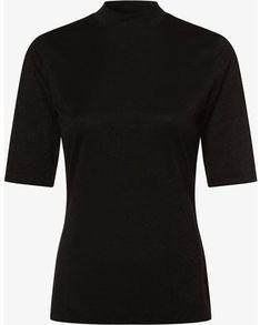 Bluzka damska Hugo Boss czarna z krótkim rękawem