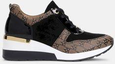 Czarno brązowe sneakersy damskie