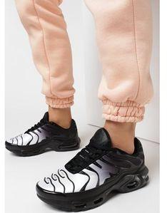 Buty sportowe damskie Born2be sneakersy czarne wiązane