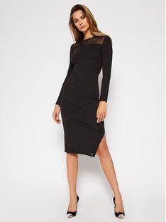 Superdry Sukienka codzienna Nyc Mesh Panel W8010378A Czarny Relaxed Fit