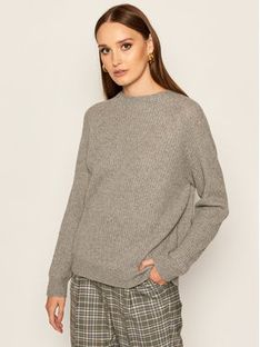 Max Mara Leisure Sweter Rosalia 33660806 Szary Regular Fit