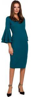 Sukienka Makover z długim rękawem bawełniana