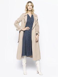 Weekend Max Mara Trencz Aris 50110507 Beżowy Regular Fit