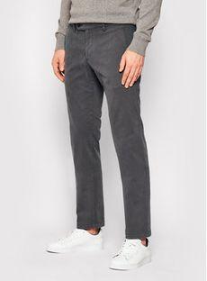 Digel Spodnie materiałowe Logo-G 88140 Szary Modern Fit