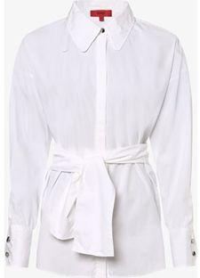 Koszula damska Hugo Boss biała z długimi rękawami