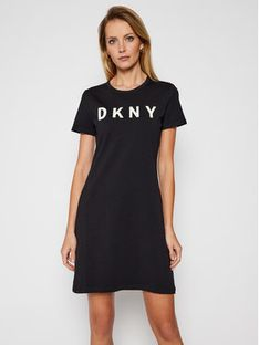 DKNY Sukienka codzienna DD0AN421 Czarny Regular Fit