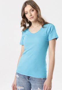 Niebieski T-shirt Blomsea