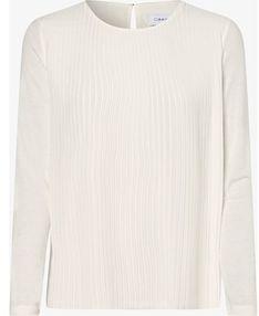 Bluzka damska Calvin Klein z szyfonu beżowa z długim rękawem