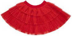Mayoral Spódnica 2901 Czerwony Regular Fit